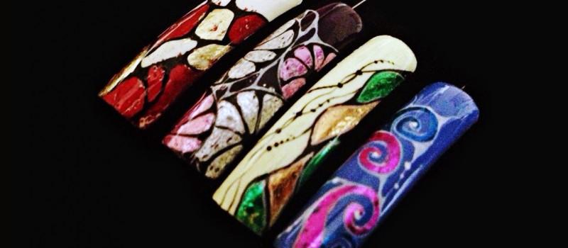 Дизайн ногтей фольгой