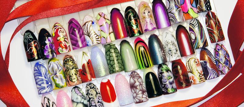Популярный дизайн гель-лаками на коротких ногтях