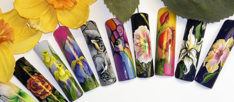 Художественная роспись ногтей. Флористика